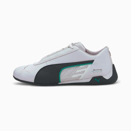 Mercedes R-Cat Youth Trainers, Puma White-Puma Black, small