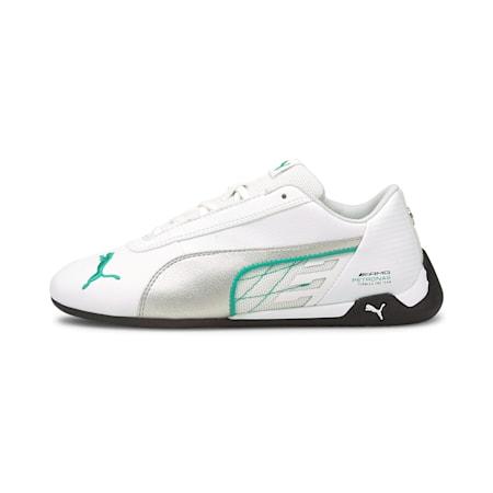 Mercedes R-Cat Youth Sneaker, Puma White-Puma Silver, small