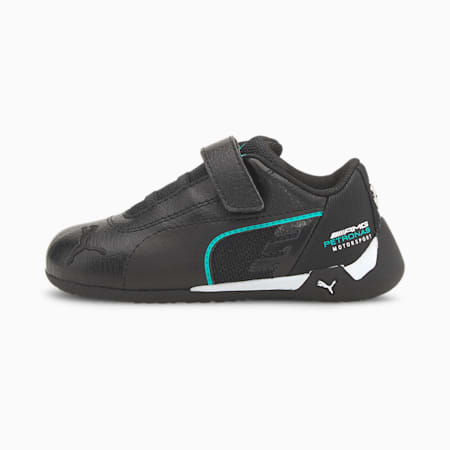 Zapatos de automovilismo Mercedes-AMG Petronas R-Catpara bebés, Puma Black-Puma White, pequeño