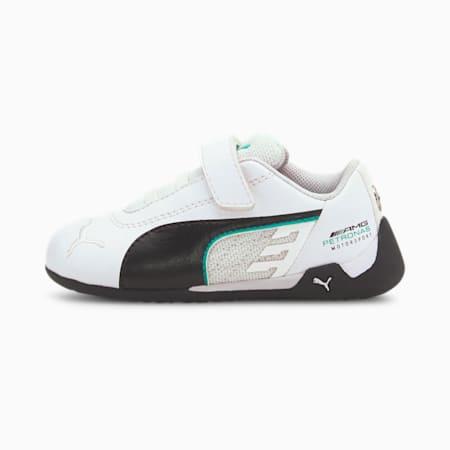 Mercedes-AMG Petronas R-Cat Toddler Motorsport Shoes, Puma White-Puma Black, small