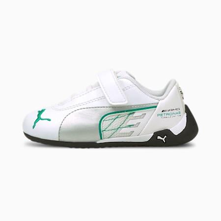 Niemowlęce buty sportowe Mercedes R-Cat V, Puma White-Puma Silver, small