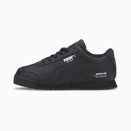 Mercedes-AMG Petronas Roma Little Kids' Shoes, Puma Black-Puma Black, small