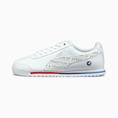 BMW M Motorsport Roma Motorsport Shoes, Puma White-Puma White, small