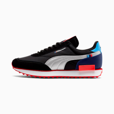 Future Rider BMW M Motorsport Sneakers, P Blk-P Silr-High Risk Red, small