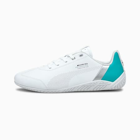 Mercedes F1 Ridge Cat Motorsport Shoes, White-White-Spectra Green, small-GBR