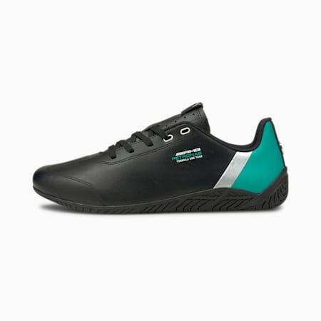 Chaussures de sport automobile Mercedes F1 Ridge Cat, Black-Spectra Green-ilver, small