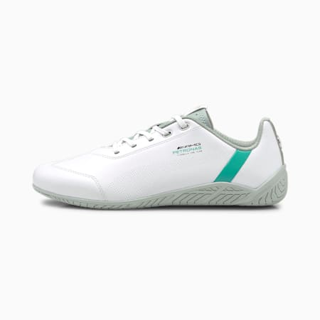 Mercedes F1 Ridge Cat Motorsport Shoes, Puma White-Spectra Green-Mercedes Team Silver, small-GBR