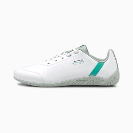 Zapatos para automovilismo Mercedes-AMG Petronas F1 Ridge Catpara hombre, Blanco-Spctra Grn-Mrcds Tm Slvr, pequeño