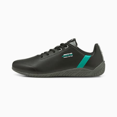 Mercedes F1 Ridge Cat Motorsport Shoes, Puma Black-Spectra Green-Smoked Pearl, small