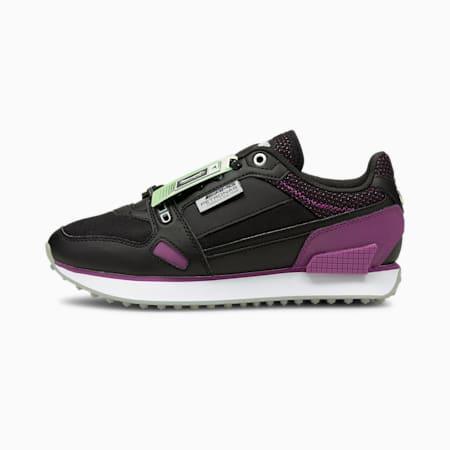 Mercedes Mile Rider F1 Women's Motorsport Shoes, P Black-Byzantium-M Team Slr, small