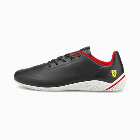 Zapatos para automovilismoScuderiaFerrariRidge Cat para hombre, Black-White-Rosso Corsa, pequeño