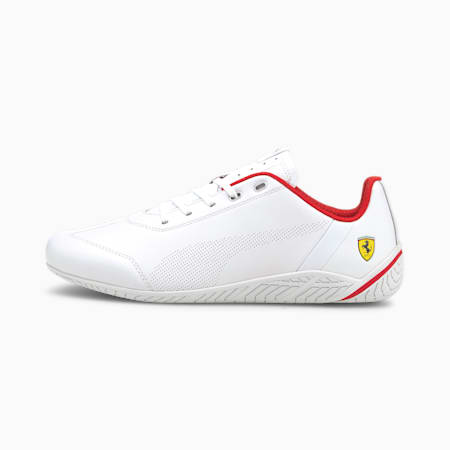 Ferrari Rdg Cat Unisex Shoes, White-White-Rosso Corsa, small-IND