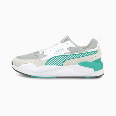 Mercedes AMG Petronas F1 X-RAY 2 Unisex Sneakers, Puma White-Spectra Green, small-IND