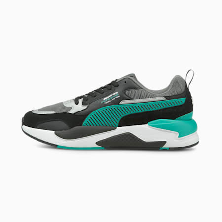 Mercedes AMG Petronas F1 X-RAY 2 Unisex Sneakers, Puma Black-Spectra Green, small-IND