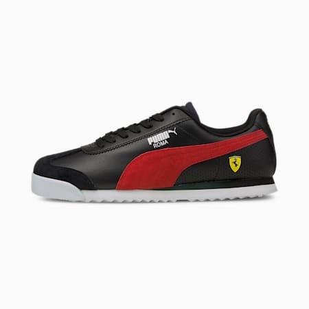Scuderia Ferrari Roma Men's Motorsport Shoes, Puma Black-Puma White, small-GBR