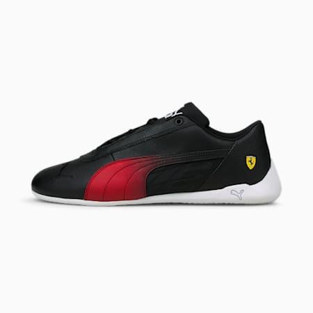 Zapatos de automovilismo ScuderiaFerrari R-Catpara hombre, Puma Black-Rosso Corsa, pequeño