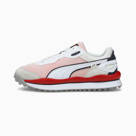 Redbull Racing Style Rider Unisex Shoes, Puma White-Puma White, small-IND