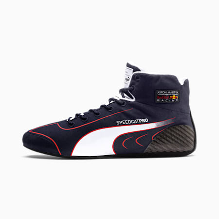 Red Bull Racing SpeedCat Pro Alexander Albon Motorsport Boots, NIGHT SKY-White-Chinese Red, small