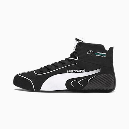 Mercedes SpeedCat Pro Valtteri Bottas Motorsport Boots, Puma Black-Puma White, small
