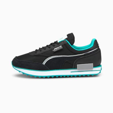 Zapatos deportivos Mercedes-AMG Petronas F1 Future Riderpara hombre, Puma Black-Puma Black, pequeño