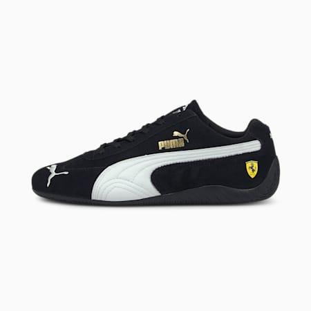 Scuderia Ferrari Speedcat Unisex Shoes, Puma Black-Puma White, small-IND