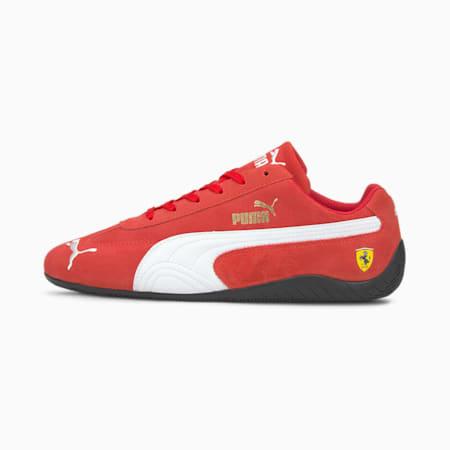 Zapatos de automovilismo Scuderia Ferrari Speedcatpara hombre, Rosso Corsa-Puma White, pequeño