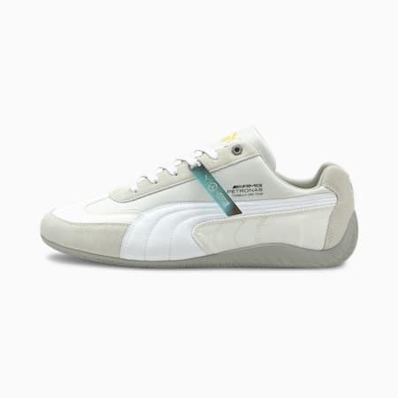 Mercedes F1 SpeedCat Motorsport Shoes, Puma White-Puma White-Mercedes Team Silver, small