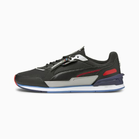 BMW M Motorsport Low Racer Motorsport Shoes, Puma Black-Marina-Puma White, small-IND