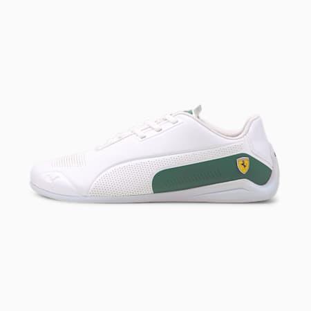 Ferrari Drift Cat 8 Unisex Shoes, Puma White-Blue Spruce, small-IND