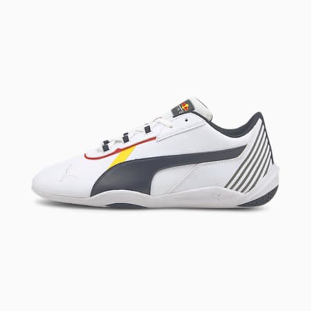 Red Bull Racing R-Cat Machina Unisex Shoes, Puma White-NIGHT SKY, small-IND