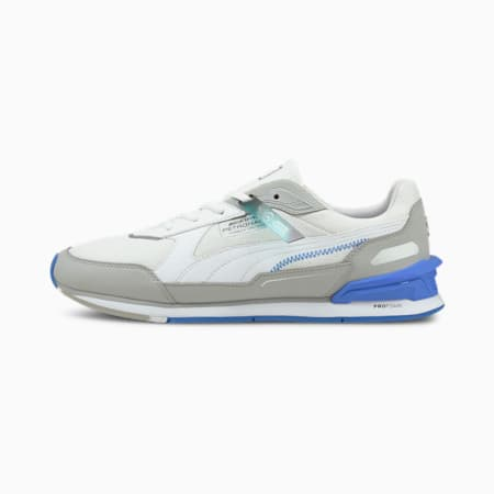 Mercedes F1 Low Racer Unisex Shoes, Puma White-Mercedes Team Silver-Bluemazing, small-IND