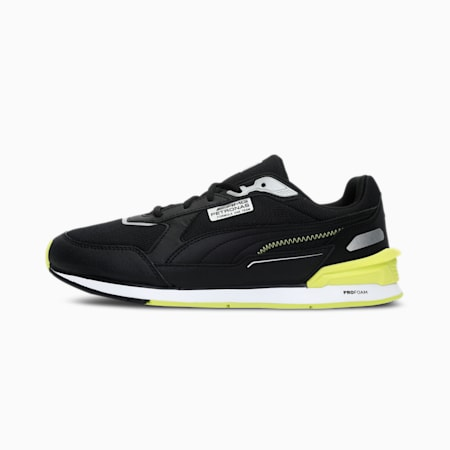 Mercedes F1 Low Racer Unisex Shoes, Puma Black-Nrgy Yellow-Puma White, small-IND