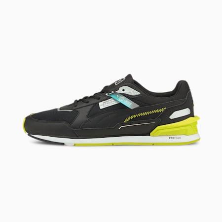 Zapatos para automovilismo Mercedes F1 Low Racer, Puma Black-Nrgy Yellow-Puma White, pequeño