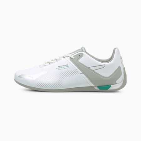 Mercedes F1 A3ROCAT Unisex Shoes, Puma White-Mercedes Team Silver-Spectra Green, small-IND