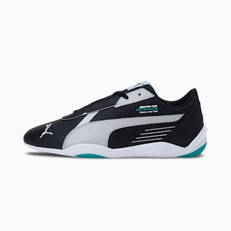 Mercedes F1 R-Cat Machina Unisex Shoes, Puma Black-Puma Silver-Spectra Green, small-IND