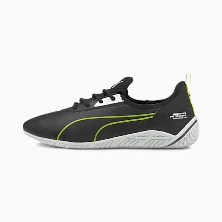 Zapatos deportivos de automovilismo Mercedes F1 Ridge Cat para mujer, Puma Black-Puma White-Nrgy Yellow, pequeño