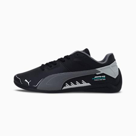 Mercedes F1 Drift Cat Delta Unisex Shoes, Puma Black-Mercedes Team Silver, small-IND