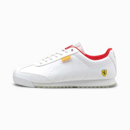 Ferrari Roma Via Perforated Unisex Shoes, Puma White-Puma White, small-IND