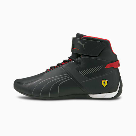 Ferrari A3ROCAT Unisex Shoes, Puma Black-Smoked Pearl-Rosso Corsa, small-IND