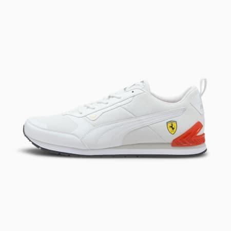 Espadrilles Motorsport Scuderia Ferrari Track Racer, Blanc Puma-Blanc Puma-Rosso corsa, petit