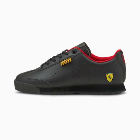 Zapatos deportivos Ferrari Roma Via Perf JR, Puma Black-Puma Black, pequeño