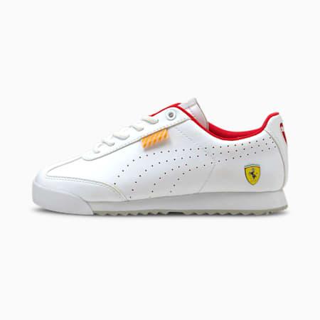 Zapatos deportivos Ferrari Roma Via Perf JR, Puma White-Puma White, pequeño