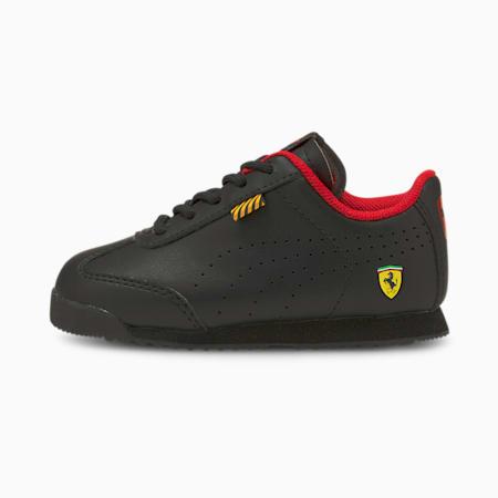 Zapatos Ferrari Roma Via Perf para bebé, Puma Black-Puma Black, pequeño
