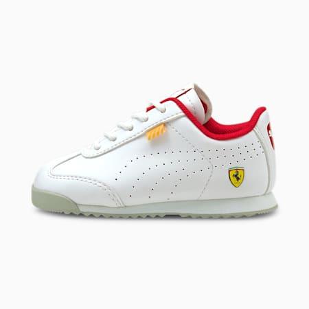 Zapatos Ferrari Roma Via Perf para bebé, Puma White-Puma White, pequeño