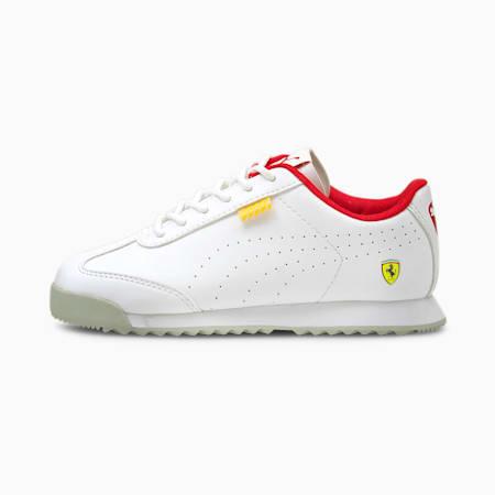 Zapatos Ferrari Roma Via Perf para niño pequeño, Puma White-Puma White, pequeño