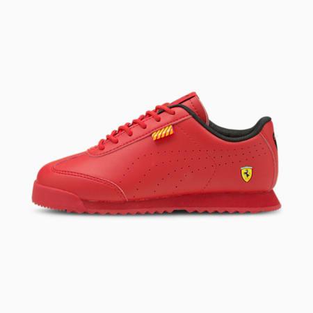 Zapatos Ferrari Roma Via Perf para niño pequeño, Rosso Corsa-Rosso Corsa, pequeño
