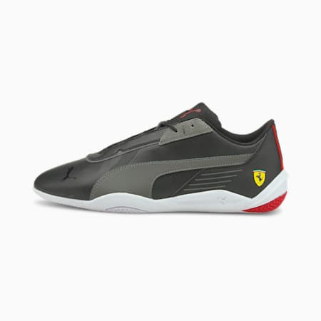 Ferrari R-Cat Machina Unisex Shoes, Puma Black-Smoked Pearl-Puma White, small-IND