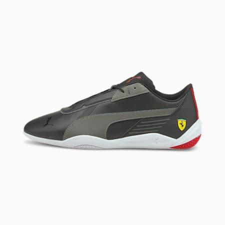 Zapatos de automovilismo Scuderia Ferrari R-Cat Machina, Puma Black-Smoked Pearl-Puma White, pequeño