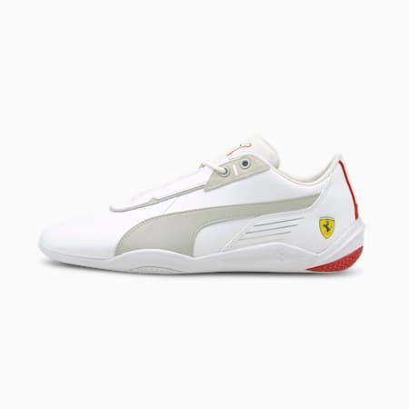 Zapatos de automovilismo Scuderia Ferrari R-Cat Machina, Puma White-Gray Violet-Rosso Corsa, pequeño