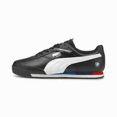 Zapatos deportivos de automovilismo BMW M Motorsport Roma Via, Puma Black-Puma White, pequeño